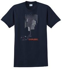 Explore City - Short Sleeve Men's T-Shirt in Navy