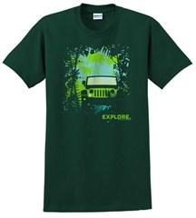 Explore Jungle - Short Sleeve Men's T-Shirt in Green