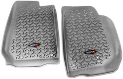 All Terrain Front Floor Liner for 2014 Jeep JK Wrangler - Gray