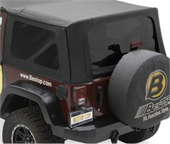Tinted Window Kit Jeep Wrangler JK 2D 2011-2016 Black Diamond Bestop