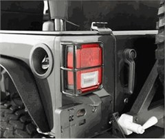 Tail Light Euro Guard Pair Wrangler JK 2007-2017 Black Smittybilt