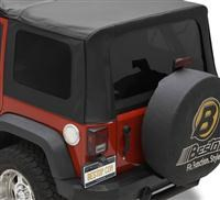 Tinted Window Kit Jeep Wrangler JK 4D 2011-2016 Black Diamond Bestop