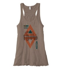 Tribal Jeep Wrangler JK Flowy Tank, Pebble Brown