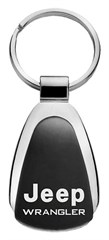 Jeep Wrangler Keychain & Keyring - Black Teardrop