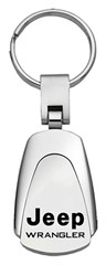 Jeep Wrangler Keychain & Keyring - Chrome Teardrop