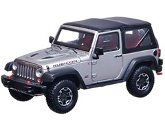 Collectible Jeep Wrangler Rubicon in Billet Silver 1:43