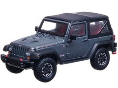 Collectible Jeep Wrangler Rubicon in Anvil Gray 1:43