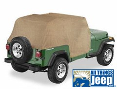 Cab Cover, Water Resistant w/Door Flaps, Spice for Jeep YJ, TJ