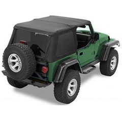 Trektop NX Complete Soft Top Kit TJ-Black Twill