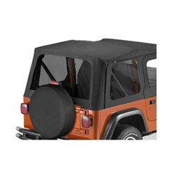 Tinted Window Kit in Black Denim for Jeep TJ (1997-2002)