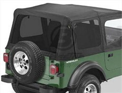 Tinted Window Kit in Black Denim for Jeep Wrangler YJ