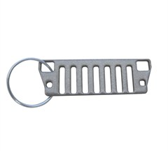 YJ Jeep Grille Key Chain - Silver