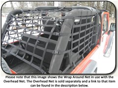 Jeep Wrap-Around Cargo Net for Wrangler LJ Unlimited