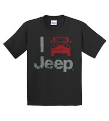 """I Jeep"" Youth Tee - Black"