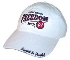 Jeep Freedom Jeep 41 Hat  (White) - CLOSEOUT