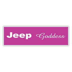 Jeep Goddess Bumper Sticker