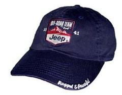 Jeep� Hat: Off-Road Team in Navy Blue