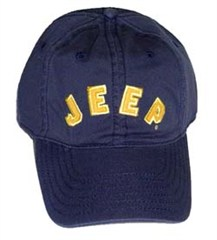 Jeep� Collegiate Baseball Hat (Navy with Gold Lettering)