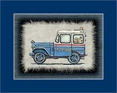 Jeep Print: Old Postal Jeep