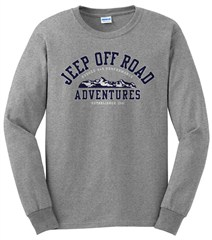 Grey Jeep Long Sleeve Tee -Off Road Adventures