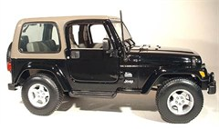 1:18 Jeep Wrangler Sahara Diecast Model, Black or Maroon - Special Edition
