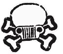 Jeep Skull & Crossbones Decal
