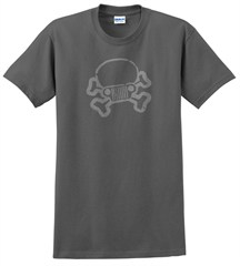 Jeep Skull & Crossbones T-Shirt Charcoal