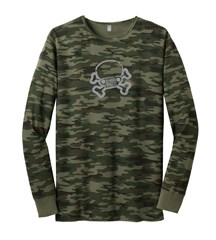 Jeep Skull & Crossbones Long Sleeve Thermal, Green Camo