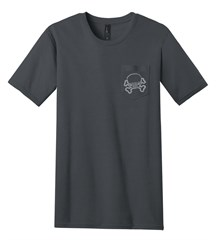 JPFreek 100% Ring Spun Cotton Pocket Tee, Charcoal