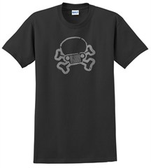 JPFreek Skull & Crossbones Logo Tee, Black, Unisex Sizing
