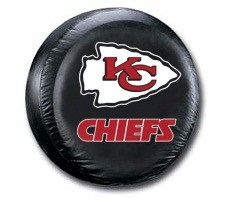 Kansas City Chiefs NFL Tire Cover - Black Vinyl