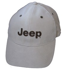 "Khaki ""Flexifit"" Jeep Cap with Dark Green Jeep logo"