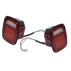 Led Tail Light Set, Jeep (CJ) 1976-86, (YJ) 1987-1995, TJ 1997-2006, Pair