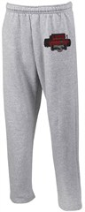 """Let's Hook Up"" Open-bottomed Sweatpants in Gray"