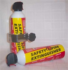 LiteGrip® Billet Aluminum Fire Extinguisher Holder & Fire Extinguisher