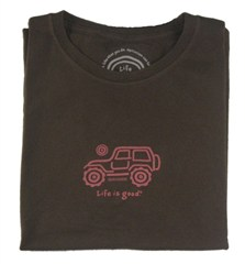 "Life is Good ""Native Pink on Dk Brown"" Women's Tee"