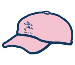 Jake Born to Run on Pink, Life is Good Chill Cap