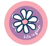 Life is good Daisy Sticker (Jam purple)