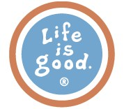 Life is Good Round Magnet, Shadow Blue