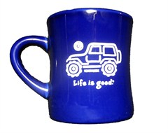 "Life is Good ""Native Offroad"" Coffee Mug - Cobalt Blue"