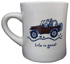 "Life is good ""Native Offroad"" Coffee Mug, Off-White"