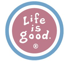 Life is Good Round Magnet (for Auto/'Fridge, etc)-BarnRed