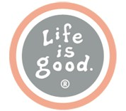 Life is Good Round Car Magnet -Moss