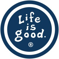 "Life is Good ""True Blue"" Coin Sticker"