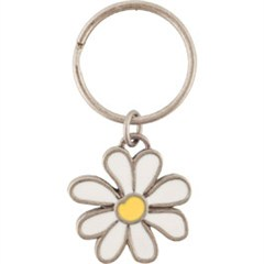 Life is Good Daisy Metal Coin Key Chain