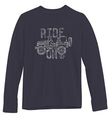 "Life is Good ""Ride On"" Men's Long Sleeve Tee on Night Black"