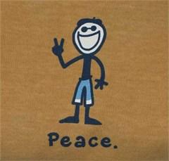 Life is Good Men's Peace Jake Tee, Harvest