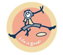 Life is good Jake Frisbee Sticker