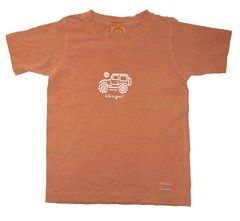 "Life is good � Youth/Kid's ""Native Jeep"" Short Sleeve Tee (Redwood)"