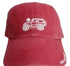 "CLOSEOUT - Life is good Chill Cap - Native Offroad on ""Barnyard Red"" Hat"